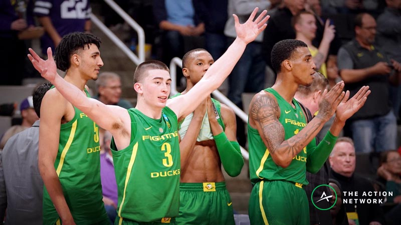 Freedman's Favorite Oregon-UC Irvine NCAA Tournament Player Prop Bets article feature image