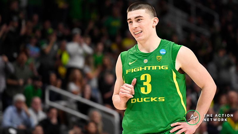 Stuckey's Favorite Sunday NCAA Tournament Bets: Tracking the Ducks, More article feature image
