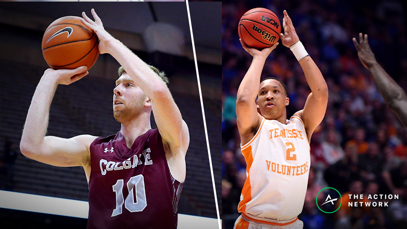 Tennessee vs. Colgate Betting Guide: Which Sharp-Shooting Offense Covers Spread? article feature image