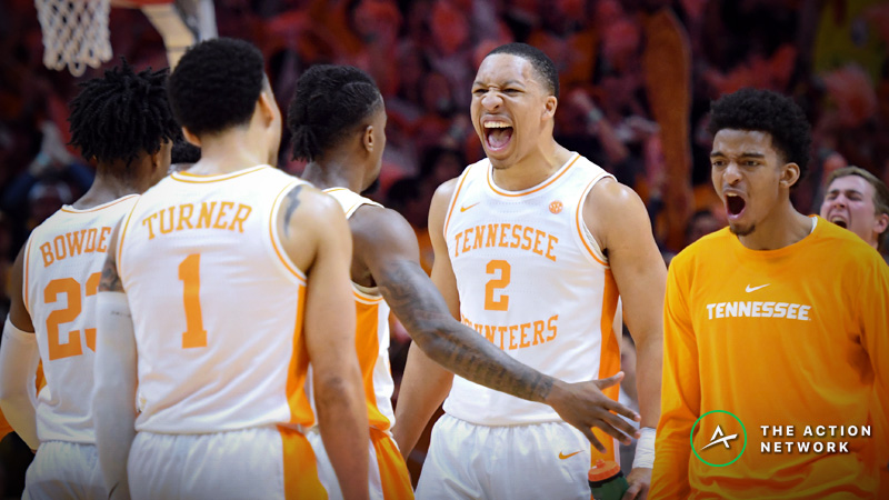 Tennessee-Colgate Betting Odds: Opening Spread, Analysis for 2019 NCAA Tournament article feature image