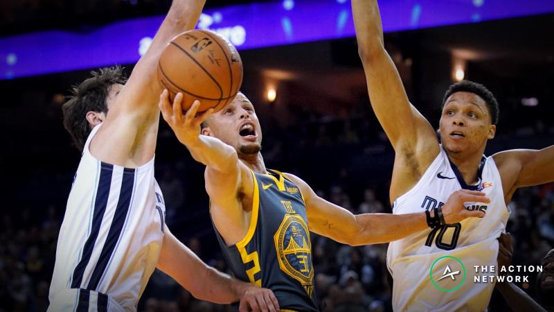 NBA Sharp Report: Wiseguys Targeting Warriors-Grizzlies Over/Under Wednesday article feature image