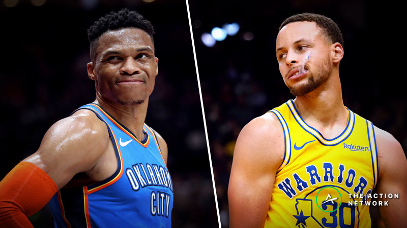 Warriors-Thunder Betting Guide: Can Golden State Pull off Another Road Win Without Durant? article feature image