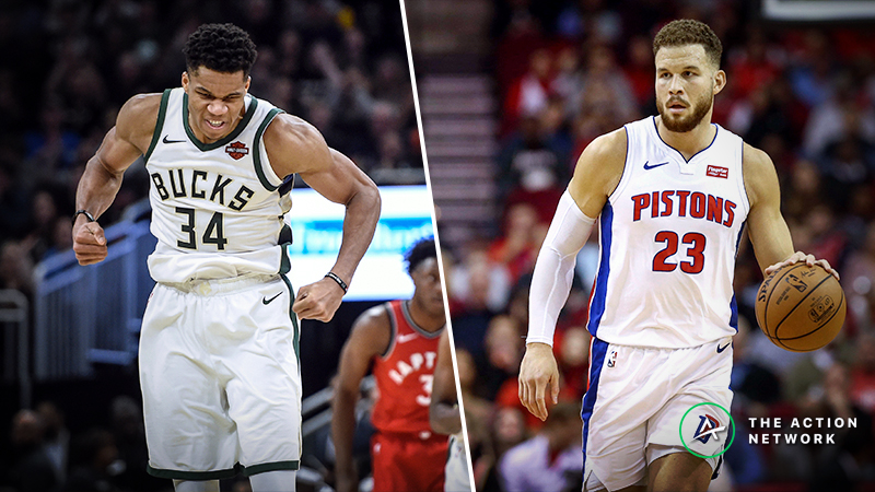 Updated Bucks vs. Pistons Series Odds, Schedule article feature image
