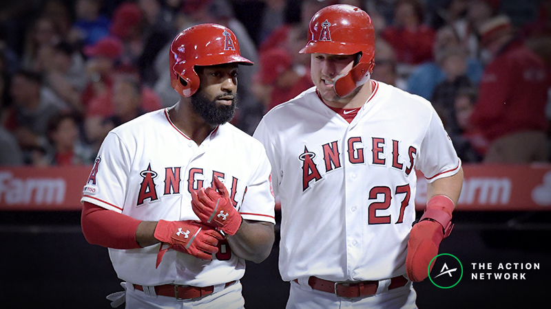 MLB Daily Betting Model, 4/10: Still Value on the Angels Without Mike Trout? article feature image