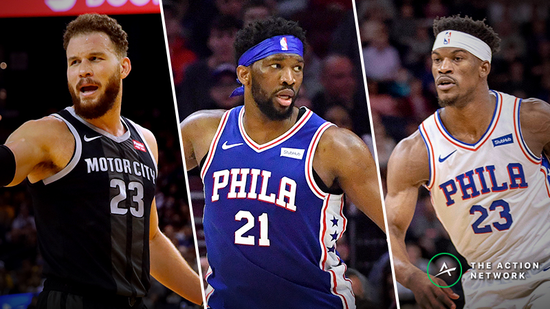 Monday's NBA Injury Report: Betting, DFS Impact of Blake Griffin, Joel Embiid, Jimmy Butler Injuries article feature image