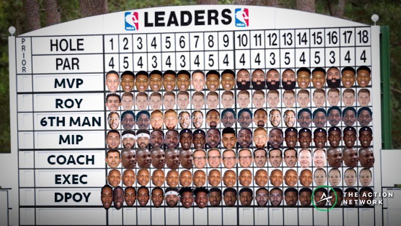 Wob's Final NBA Awards Leaderboard: My Hole 18 Picks For MVP, Rookie of the Year, More article feature image