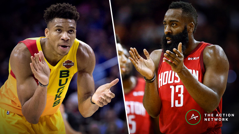 Moore: Giannis or Harden? How to Find NBA MVP Betting Value article feature image