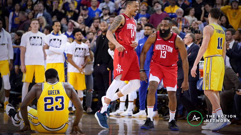 Moore: What's at Stake in Warriors vs. Rockets Rematch article feature image