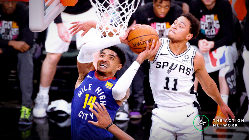 Nuggets-Spurs Over/Under Again Drawing Sharp Action article feature image