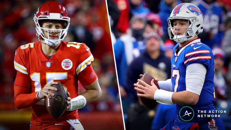 Patrick Mahomes-Josh Allen Contest: Which NFL QB Can Throw Farther? article feature image