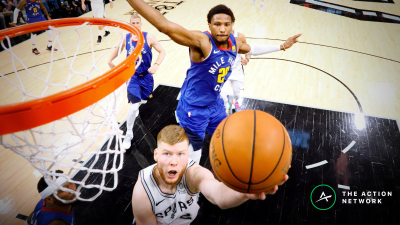 Spurs vs. Nuggets Sharp Report: Pros Again Targeting the Over/Under in Game 5 article feature image