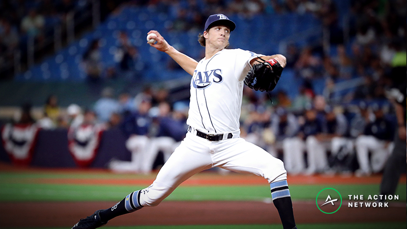 MLB Daily Betting Model, 4/21: Can Glasnow Continue Dominance for Rays vs. Red Sox? article feature image