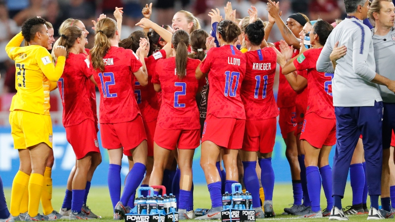 USA Heavy Favorites to Win Women's World Cup After Topping England article feature image