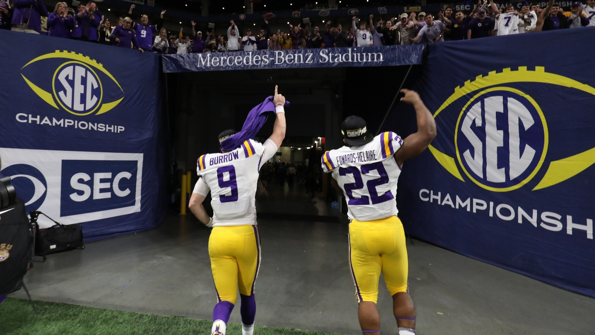 2019 National Title Odds Tracker: LSU Favored Entering College Football Playoff article feature image