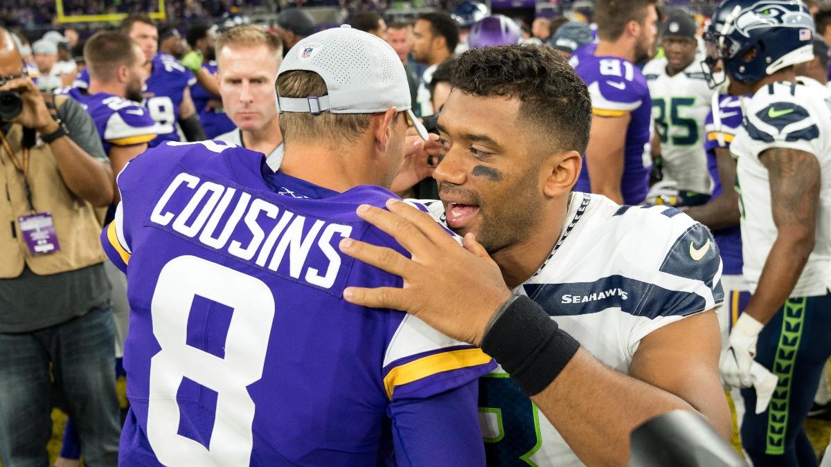 Vikings vs. Seahawks Betting Odds, Picks & MNF Cheat Sheet article feature image