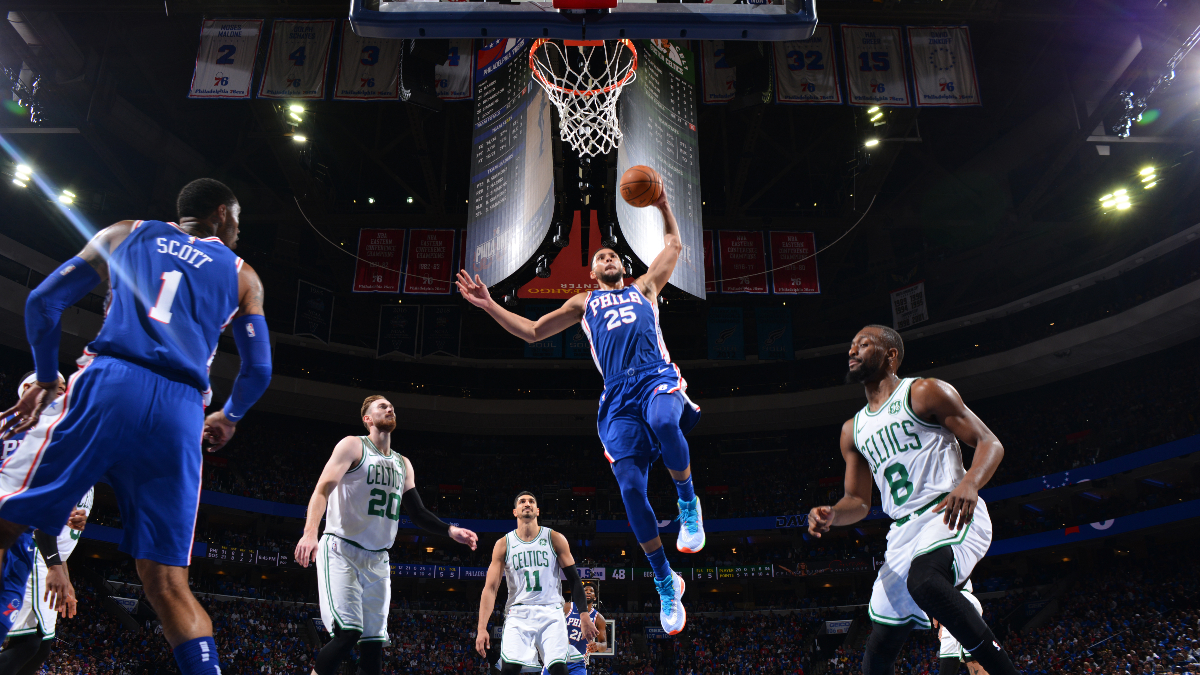 Celtics vs. 76ers Betting Picks, Betting Odds & Predictions: Can Ben Simmons Step Up in Joel Embiid's Absence? article feature image