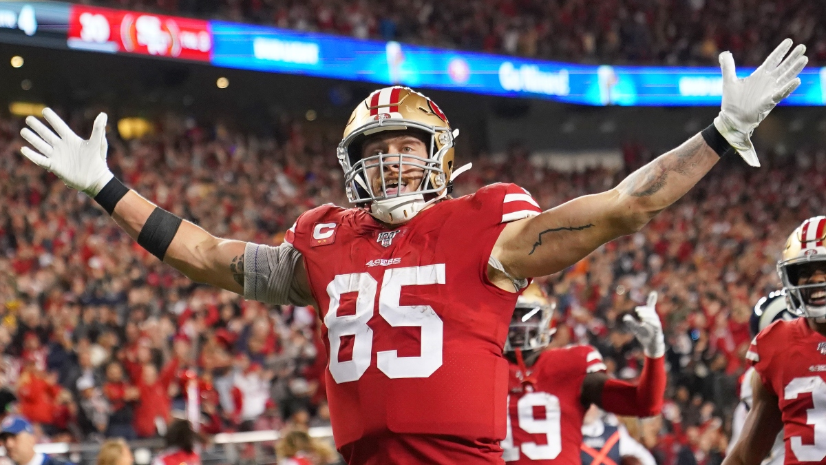 Divisional Round Fantasy Football Standard Rankings: TE article feature image