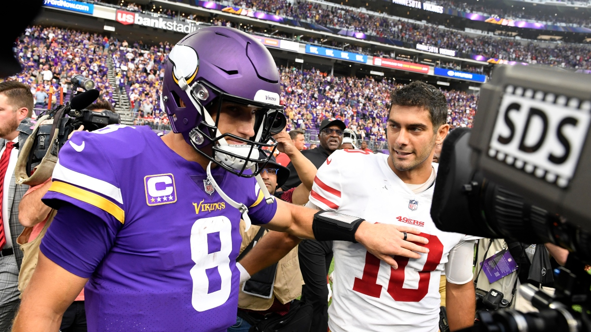 Vikings vs. 49ers Odds Tracker: Shop the Best Divisional Round Spread & Over/Under article feature image