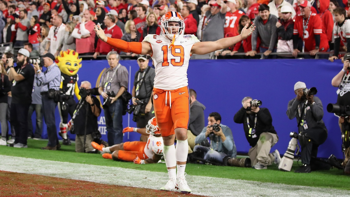 Clemson vs. LSU Sharp Betting Pick: Late Money Moving National Title Game Line article feature image