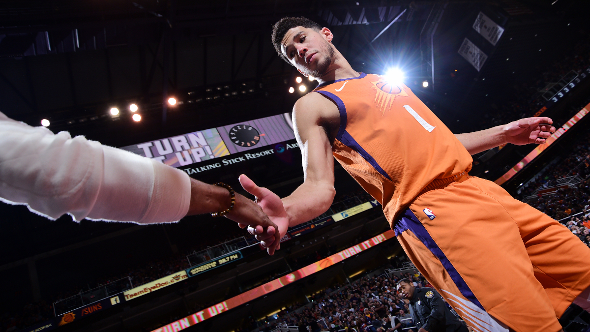 Updated 2020 NBA 3-Point Contest Betting Odds: Devin Booker Replaces the Injured Damian Lillard article feature image