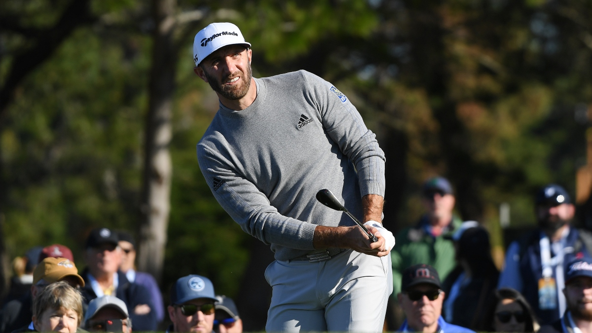 AT&T Pebble Peach Pro-Am Round 2 Odds & Picks: How to Bet Dustin Johnson vs. Jordan Spieth article feature image