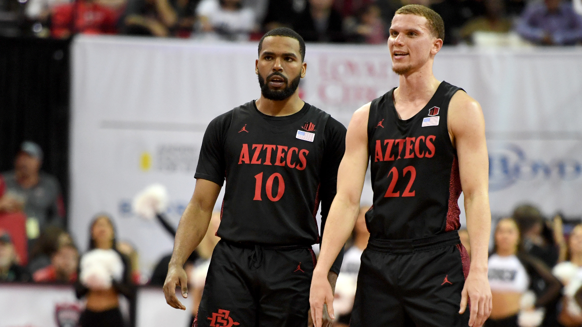 Saturday College Basketball Odds & Picks: Kansas State-WVU, Utah State-San Diego State article feature image