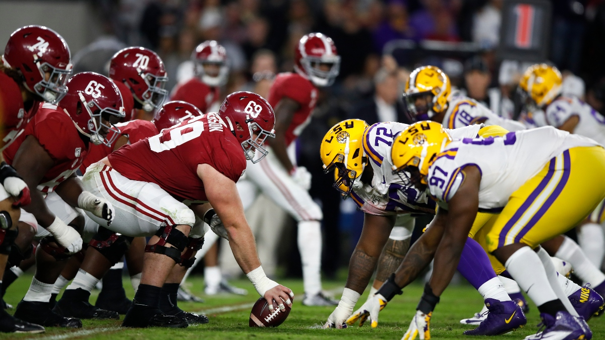 2020 College Football Game of the Year Lines: Odds for 26 Matchups Including Alabama vs. LSU, Michigan vs. Ohio State article feature image