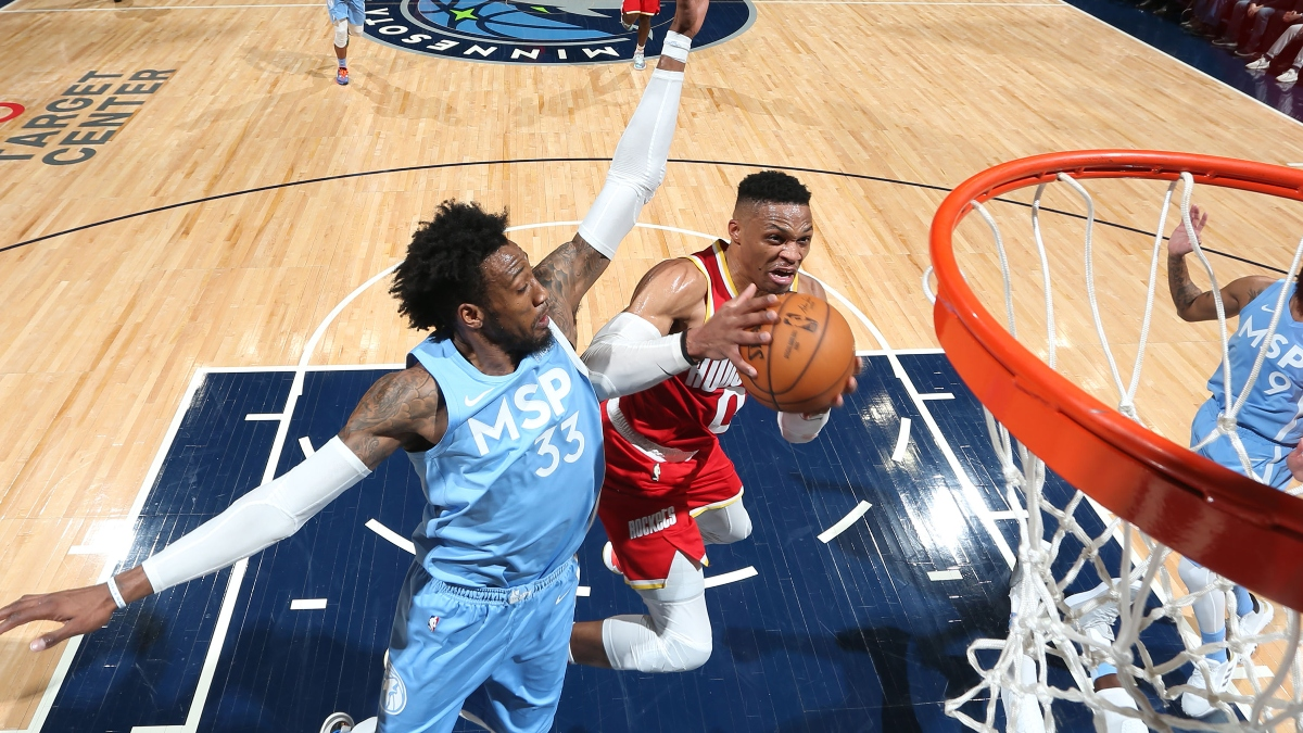 NBA Tuesday Sharp Betting Pick: How Pros Are Betting Timberwolves vs. Rockets Over/Under article feature image
