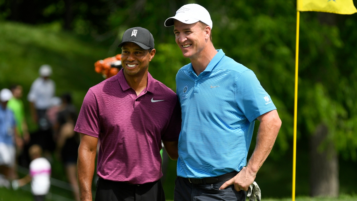 Tiger vs. Phil Match Odds, Date & How to Watch: Woods-Manning Favored Over Mickelson-Brady article feature image