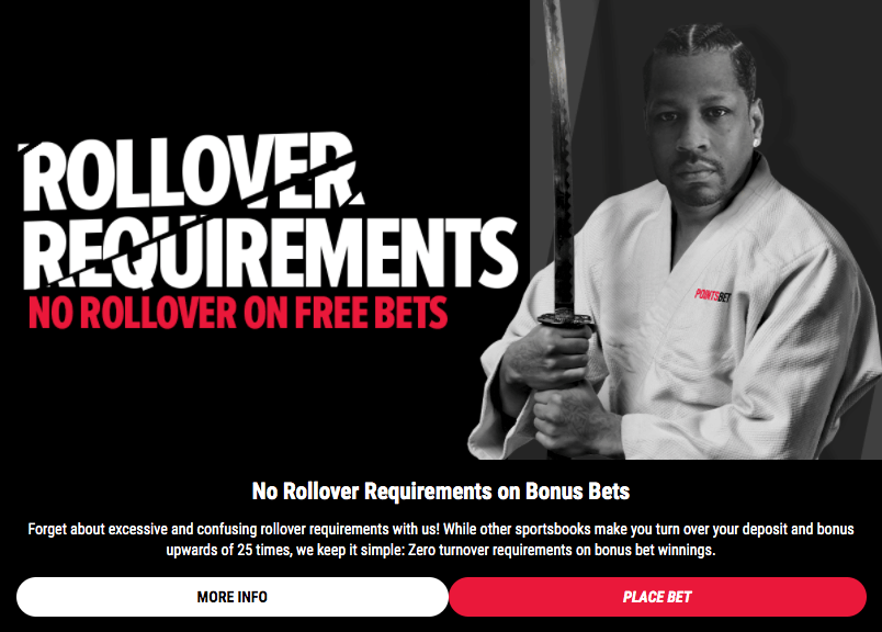sports betting no rollover