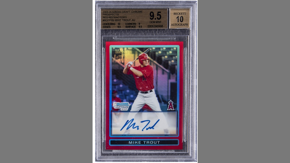 $900,000 Mike Trout Rookie Card Highlights Record-Breaking Memorabilia Auction article feature image
