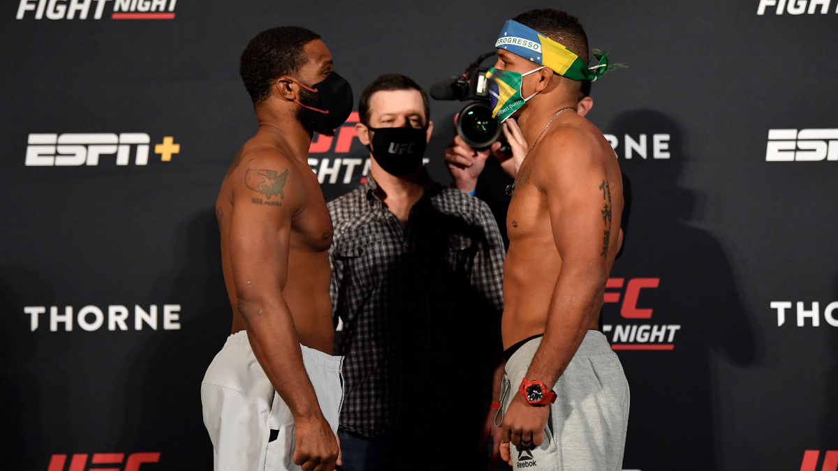 UFC DFS Model & Picks for UFC Fight Night: Woodley vs. Burns article feature image