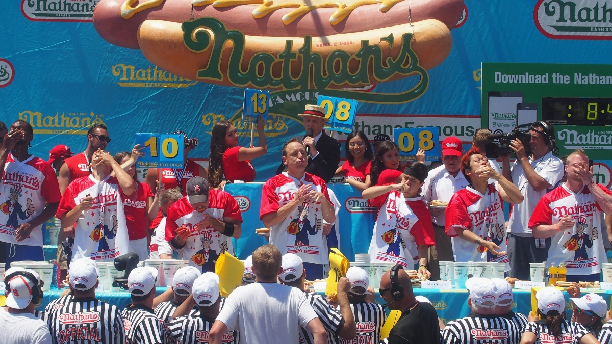Updated 2020 Hot Dog Eating Contest Betting Odds: Joey Chestnut A Massive Favorite To Win Saturday's Competition article feature image