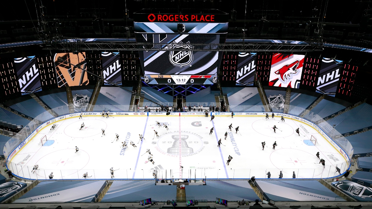 NHL Best Bets: Picks and Predictions for Saturday's Five Qualifying Round Games article feature image