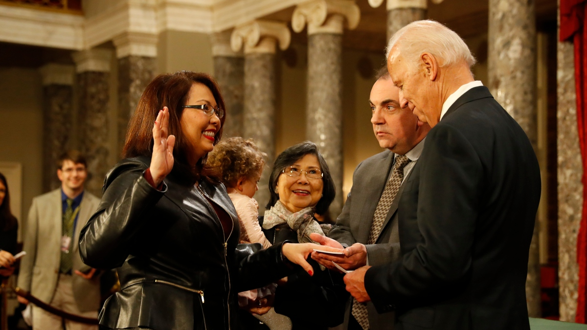Tammy Duckworth Has 4th-Best Odds to Be Joe Biden's Running Mate article feature image