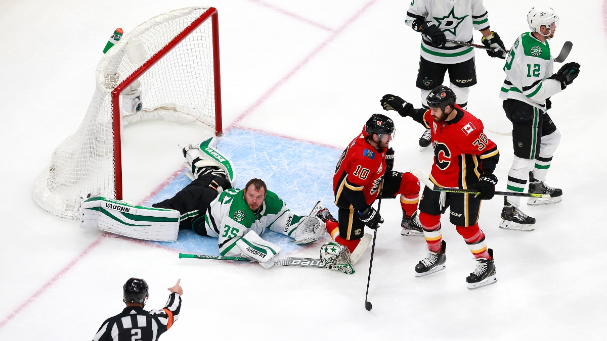 Stars vs. Flames Game 4 Odds & Pick (Sunday, Aug. 16): Double Down on Dallas? article feature image