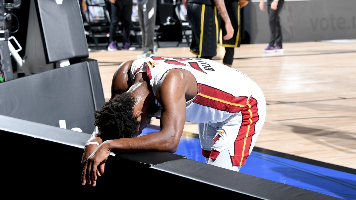 NBA Finals Player Prop Bets & Picks: Jimmy Butler Can't Maintain This Scoring Pace (Sunday, Oct. 11) article feature image