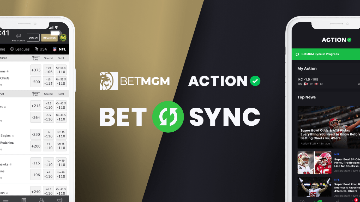 BetSync 101: How to Automatically Track Your Bets at BetMGM in The Action Network App article feature image