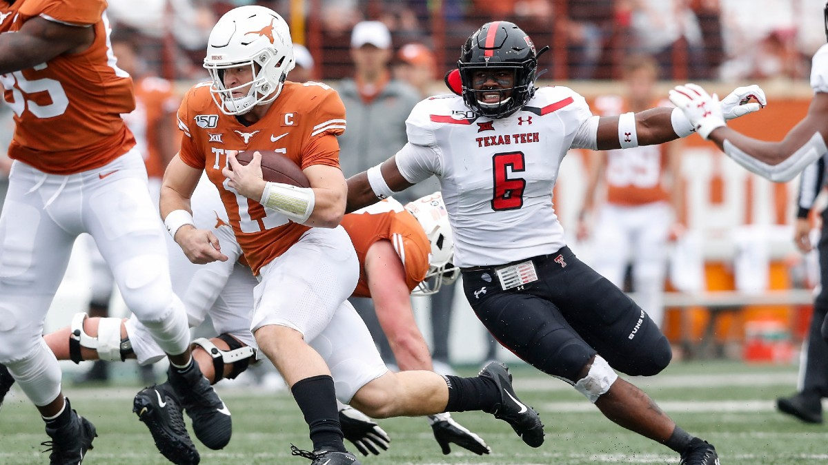 Texas Tech Vs Texas Betting Odds Pick Lubbock Braces For Longhorn Stampede Saturday Sept 26