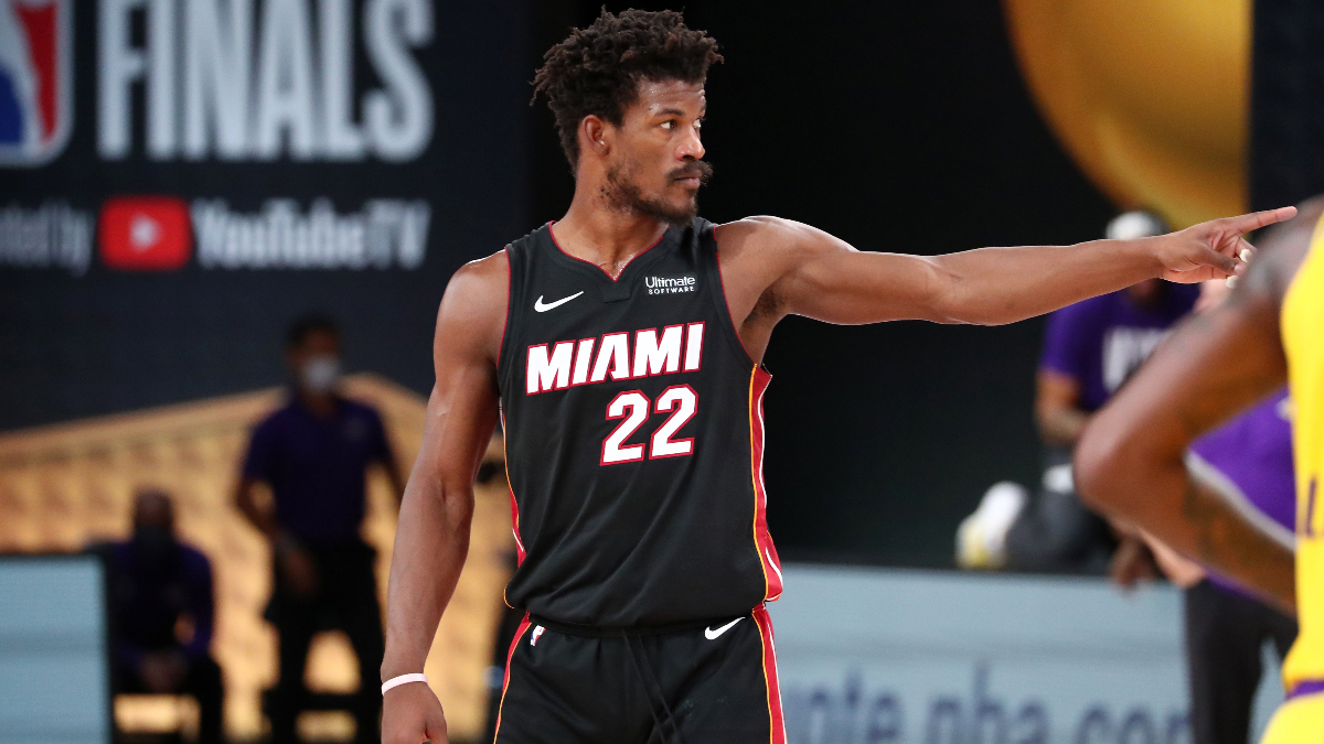 NBA Finals Player Prop Bets & Picks: Expect a Strong Jimmy Butler Performance In Game 2 (Friday, Oct. 2) article feature image