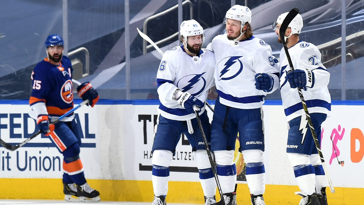 Sunday NHL Odds & Picks: Totals And Player Prop Bets for Islanders vs. Lightning Game 4 (Sept. 13) article feature image