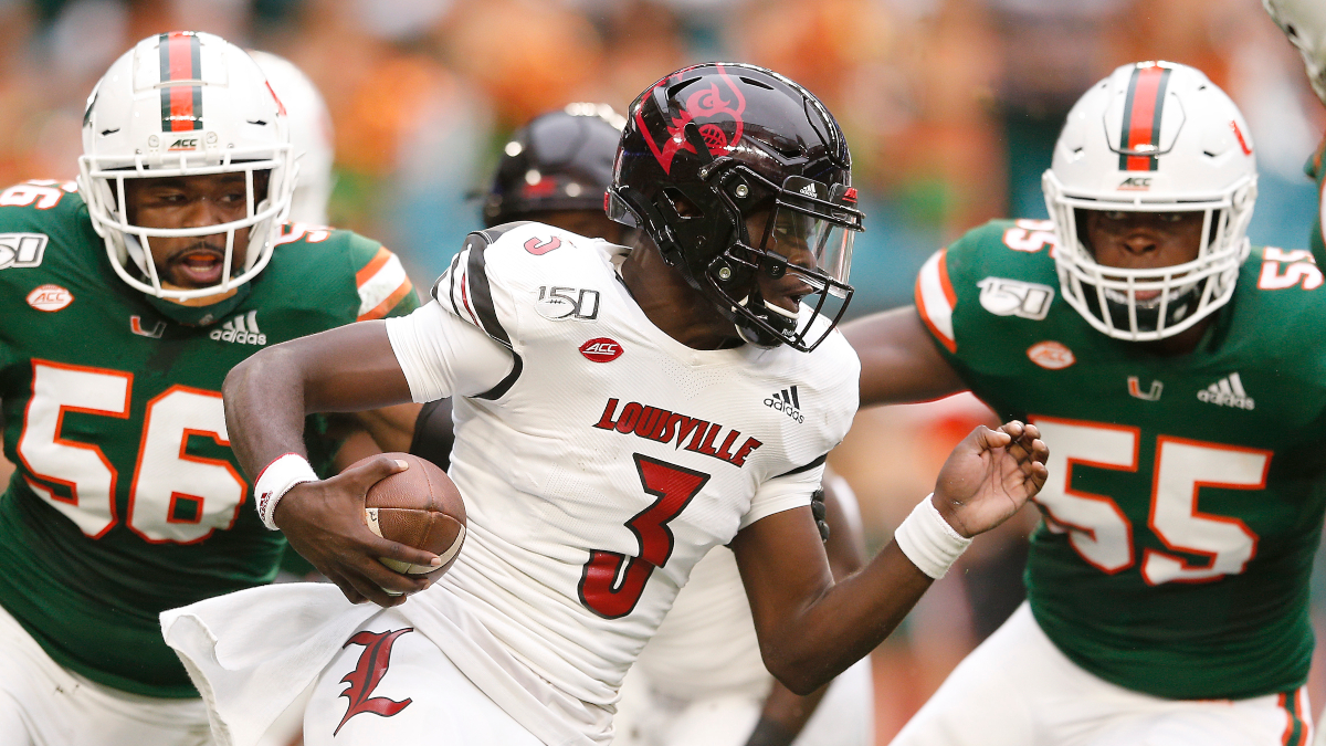 Saturday College Football Week 3 Betting Odds & Picks: Louisville and Miami in an ACC Knockout Bout (Sept. 19) article feature image