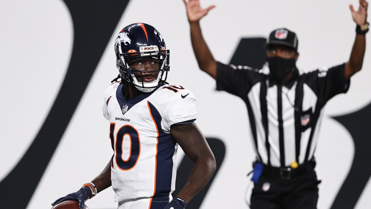Broncos vs. Patriots Odds & Promo: Bet $1, Win $100 if There's at Least 1 TD! article feature image