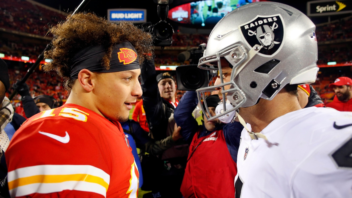 Chiefs vs. Raiders Promo: Bet $5, Win $100 if Kansas City Covers +50 article feature image