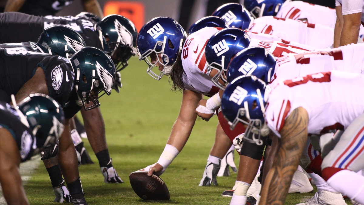 Eagles vs. Giants Odds & Promos: Bet $1, Win $100 if There's at Least 1 TD, More! article feature image