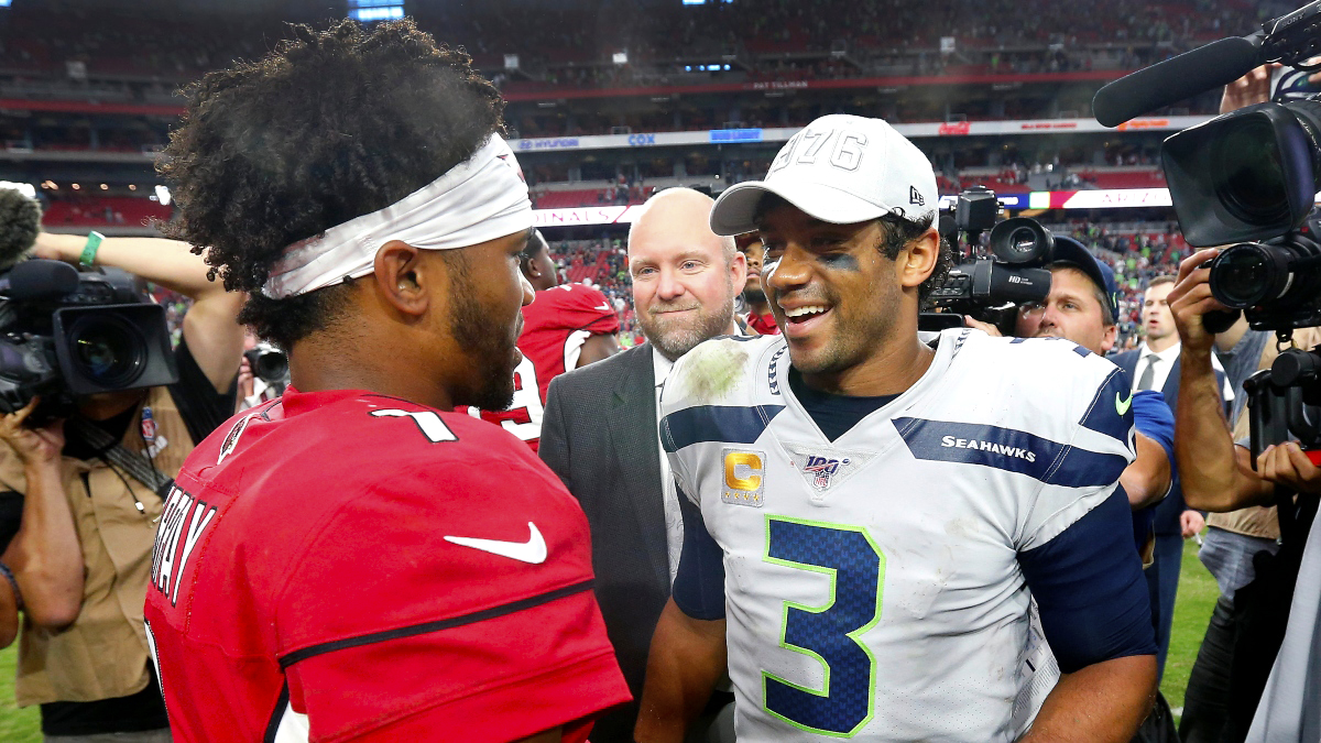 NFL MVP Odds: Kyler Murray Skyrockets Up Board As He Gets Ready To Face Russell Wilson article feature image