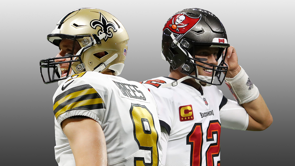 NFL Odds & Picks For Sunday Night Football: How To Bet the Saints vs. Buccaneers Total article feature image