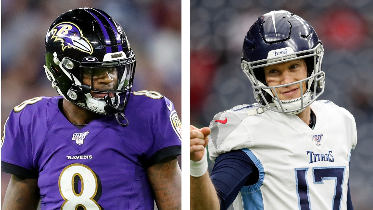 NFL Playoff Odds & Picks For Ravens vs. Titans: Bet On Lamar Jackson & Co.  To Exorcise Their Postseason Demons